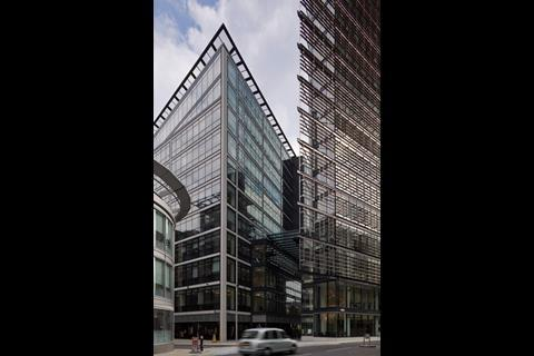 The west-facing facades are entirely clad in brises-soleil unless they shade the buildings behind. This minimises energy use, but the tenants have negated this by opting for the most energy-intensive air-conditioning solution